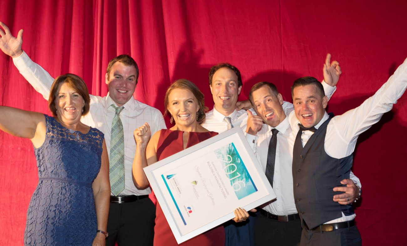 signature roofing sunshine coast business award winners