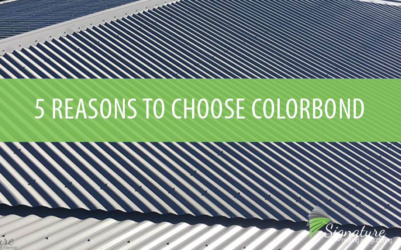choosing colorbond signature roofing reroofing metal roofing